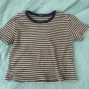 NWOT brandy melville knit striped tee